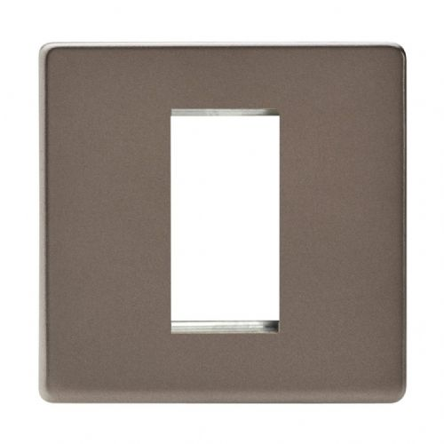 Varilight XDRG1S Screwless Pewter DataGrid Plate (1 DataGrid Space)